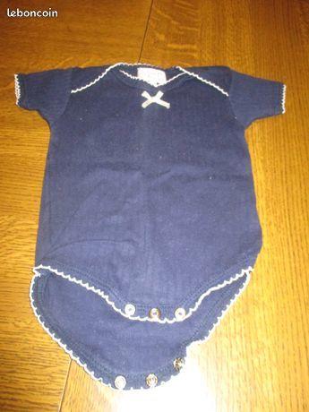 Boddy bleu marine avec petit noeud devant 0 Mérignies (59)