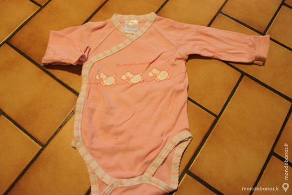 body manches longues rose 3 mois 3 Wervicq-Sud (59)