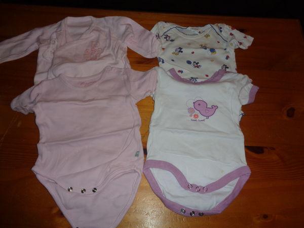 Lot de 4 bodys bébé fille taille 6 mois à 4 euros 4 Lauraët (32)