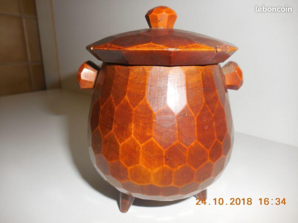 pot en bois ancien vintage 15 Sète (34)