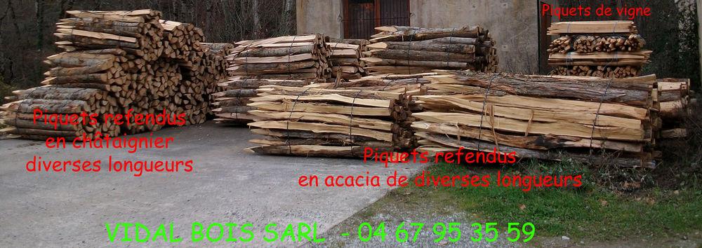 BOIS DE CHAUFFAGE - PIQUETS DE CLOTURE 58 34000 (34)