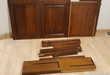 Lot bois en merisier massif, 2 portes + divers morceaux Bricolage