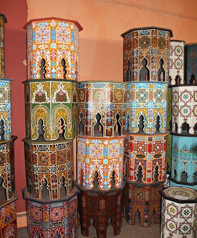 bois peint marocain 80 Paris 2 (75)
