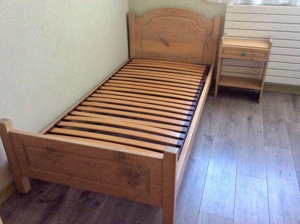 lit bois 1 personne  100 Moussy-le-Vieux (77)