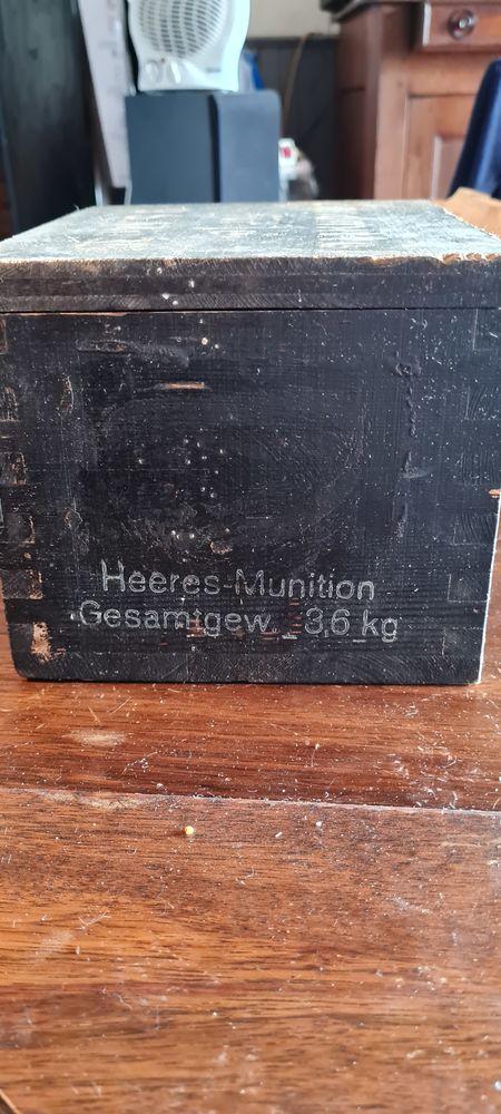Boîte allemande de munitions 1943 en bois
