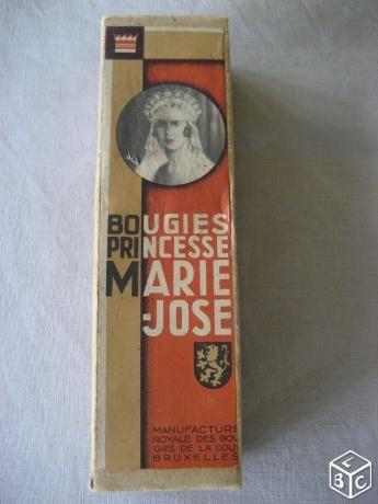 Boite  en carton Bougies Princesse MARIE-JOSE 9 Nyons (26)