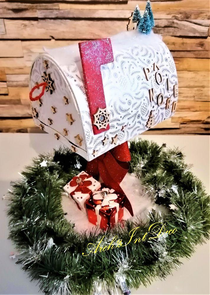 Boîte aux lettres du père Noël blanche 75 Dax (40)