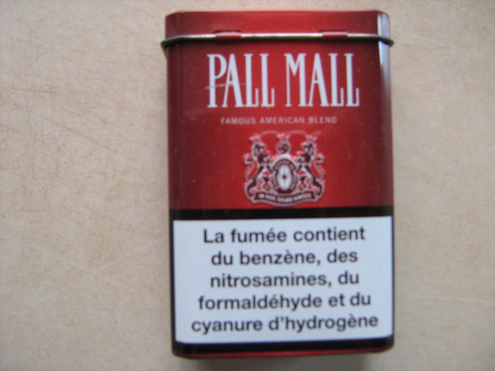 Boite métal pour cigarette Pal Mall 5 Bourges (18)