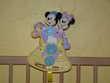 Boîte musicale à bascule Mickey Minnie