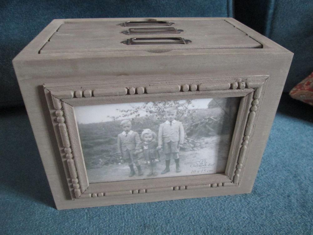 Boite à photos style ancien en bois 10 Herblay (95)