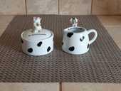 boite  à sucre et verse lait céramique motif vache de suisse 5 Marseille 9 (13)