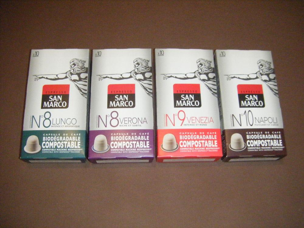 4 boites de 10 capsules de 5,1g SAN MARCO 100% NEUVES 1 Tosse (40)