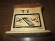 boitier Télévision et Vidéos neuf en bois