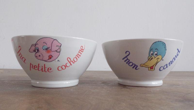 2 bols humoristique ma petite cochonne et mon petit canard 2 Laval (53)