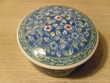 Bonbonnière en porcelaine bleue d'Asie 13cm Neuf