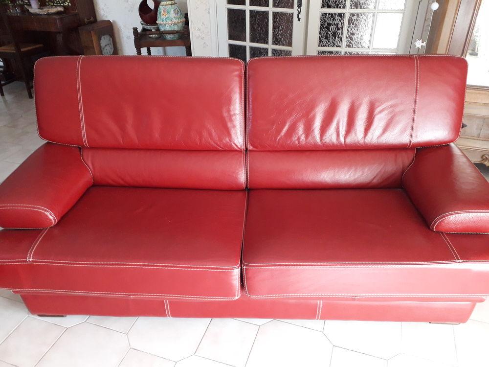 bonne affaire canapé fauteuil buffle rouge 1200 Le Bosc (34)