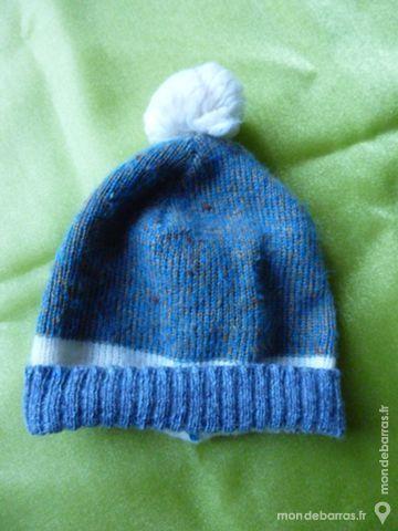 Bonnet bébé bleu chiné 2 Goussainville (95)