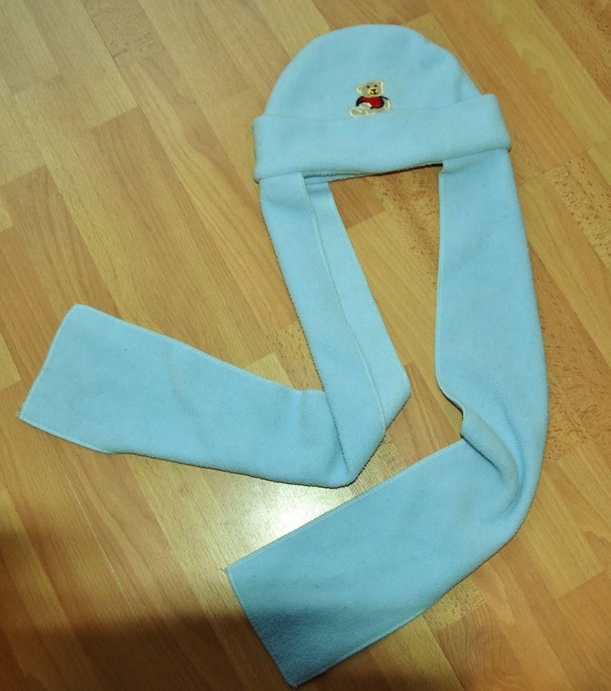 Bonnet chaud écharpe polaire bleue.36 mois.Tbe  4 Gujan-Mestras (33)