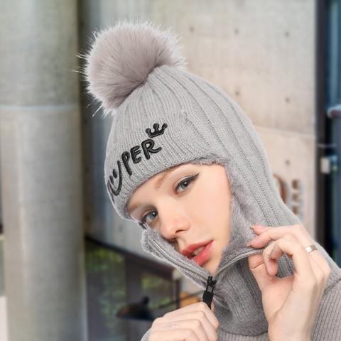 Bonnet tricoté épais en laine   Super Queen?   16 Paris 1 (75)