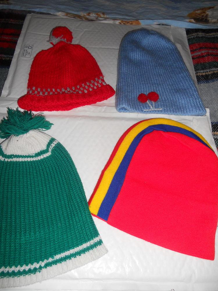 lot de 6 bonnets homme/enfant (tricot/laine) 5 Ervy-le-Châtel (10)