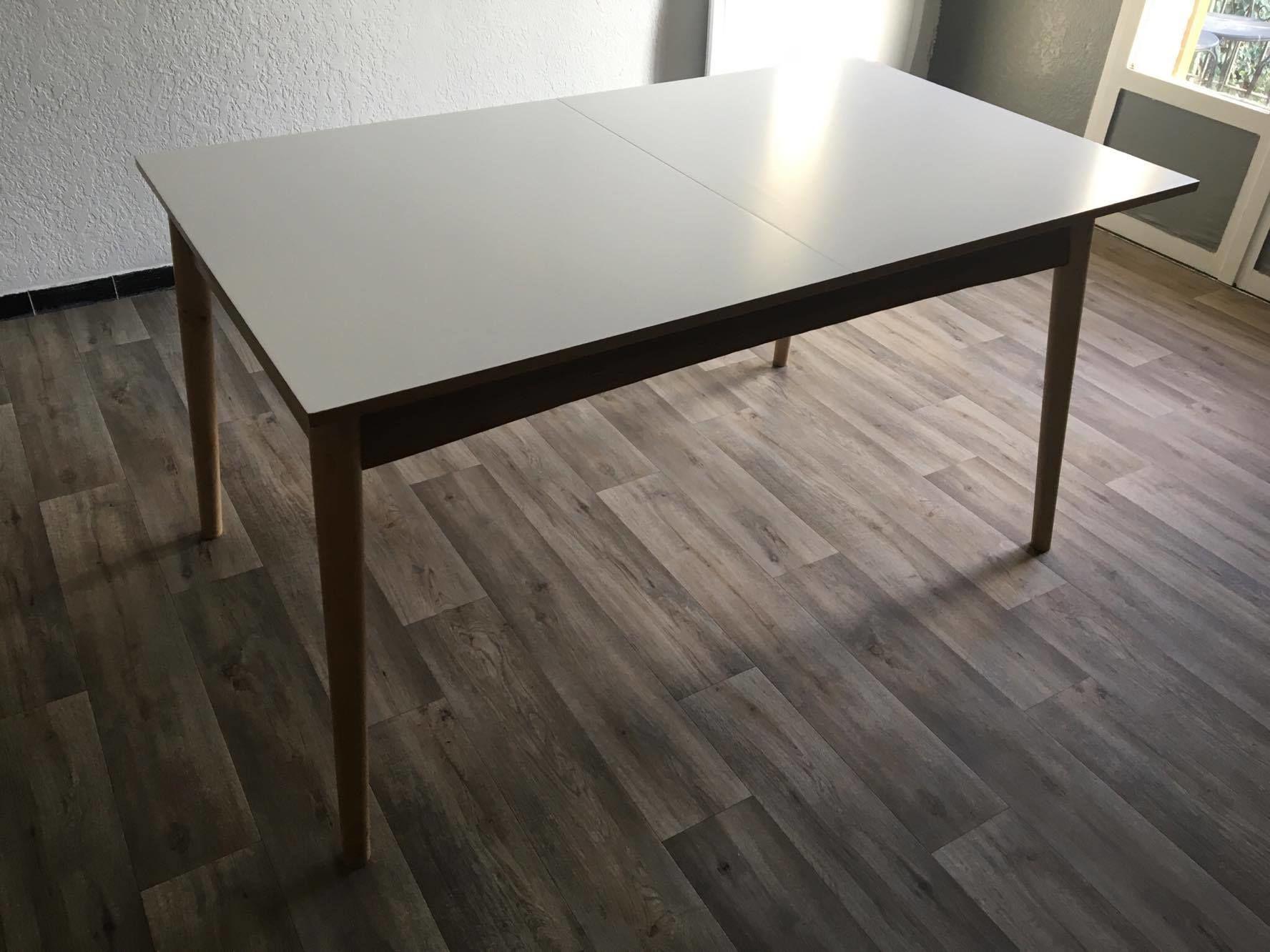 Boop Table De Salle A Manger En Bois Blanche L 150 Cm