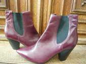 boots  en cuir neuves coloris bordeaux marque Vicmatie  25 Vitry-sur-Seine (94)
