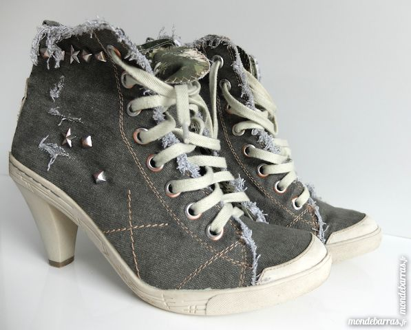 Boots tissus à talons North Star, style converse 45 Orgeval (78)