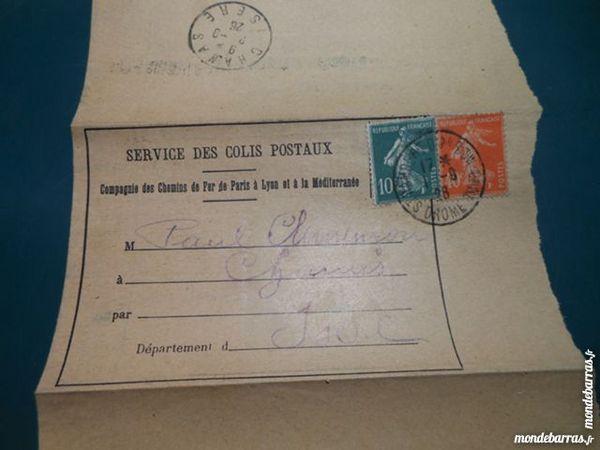 bordereau colis postaux 1926   6p45 5 Grézieu-la-Varenne (69)