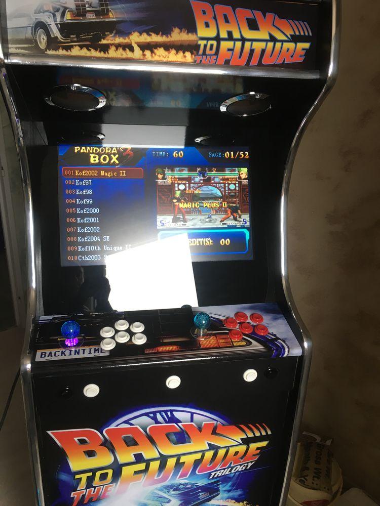 borne arcade retour vers le futur