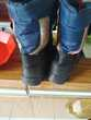 12€ botte taille 28 de couleur bleu et noir