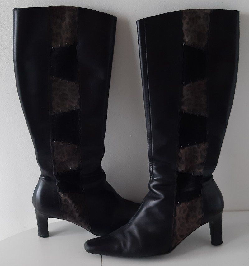 Bottes cuir noir FEMME 38 25 Lattes (34)