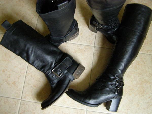 Bottes en cuir Noires marque  Méliné  taille 37/38 45 Brem-sur-Mer (85)