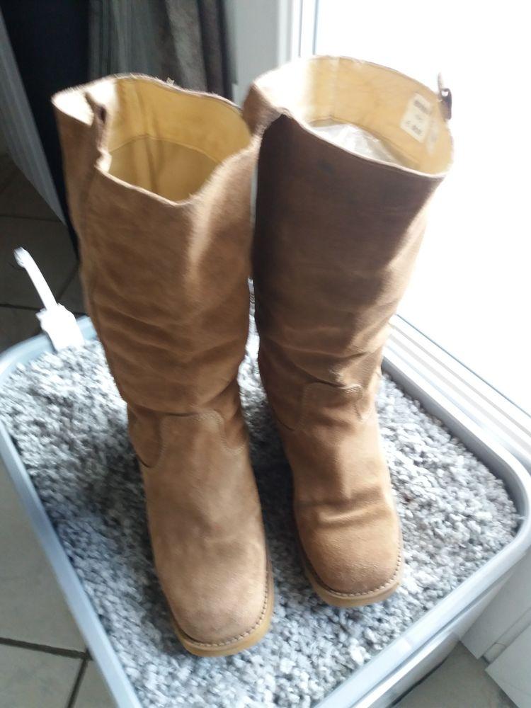 bottes femme croute de cuir taille 39 10 L'Isle-Adam (95)