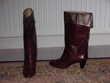 Bottes femme en cuir bordeaux p 38, H talons 7 cm, revers  6 Chénérailles (23)