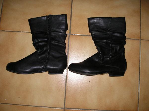 Bottes fille en cuir noir taille 36 10 Septèmes-les-Vallons (13)