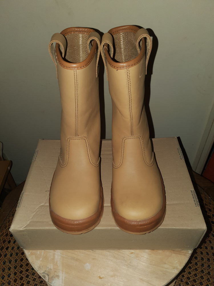 Bottes de sécurité NON FOURREE en cuir Chaussures