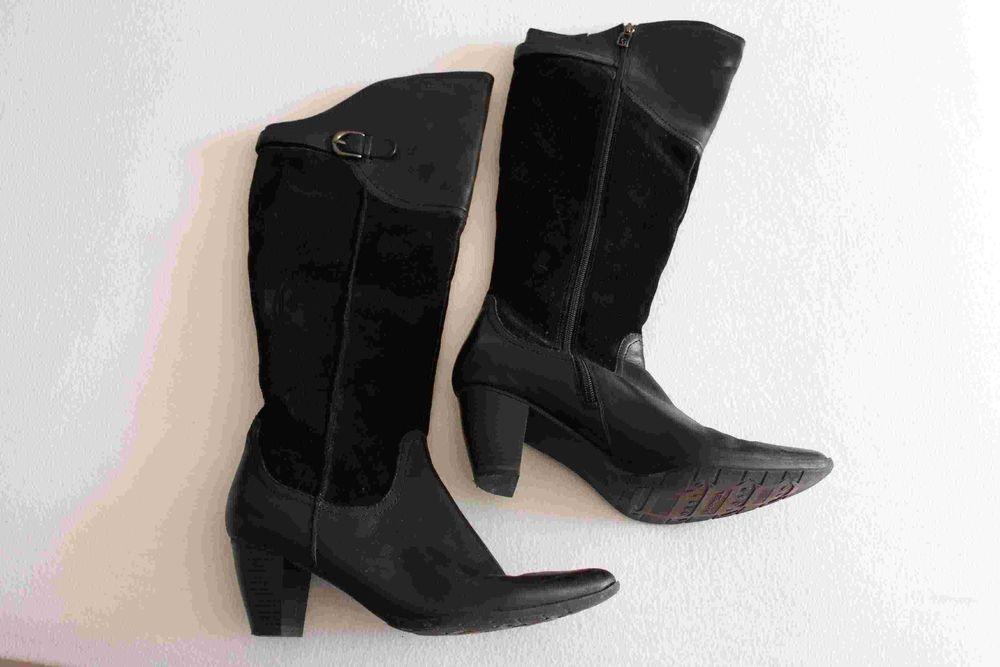 bottes tamaris daim et cuir noir P:41 pour femme 0 Créteil (94)