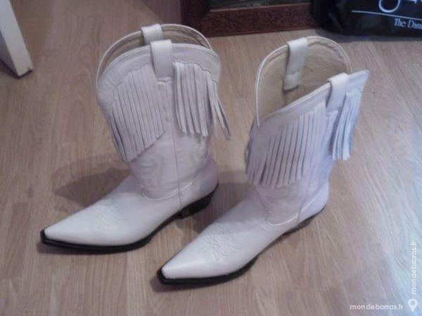 bottes texanes yuma blanches 80 Boussois (59)