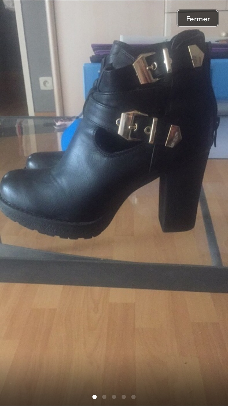 0f208ccc42f6 Bottine ouverte taille 38 Chaussures