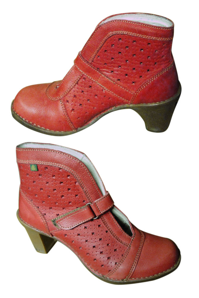 Bottines cuir rouge El Naturalista Pointure 38 40 Conflans-Sainte-Honorine (78)