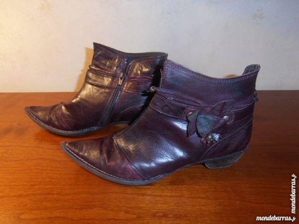 Bottines cuir violet 50 Tours (37)
