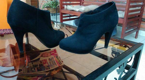 Bottines à Talons Noir Femme Taille 36 Chaussures