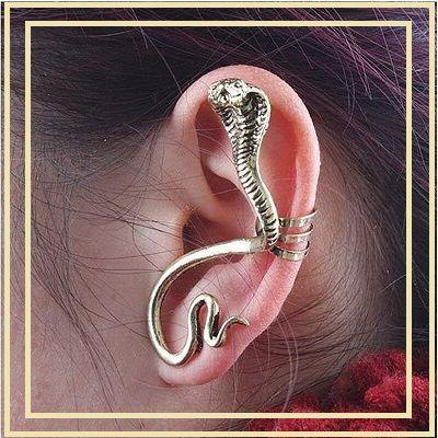 Boucle d'oreille en forme de serpent à clip 6 Pleurs (51)