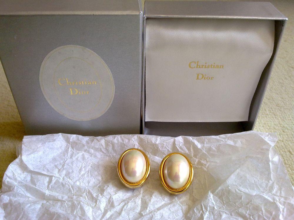Boucles d'oreille clip DIOR vintage années 90 150 Clichy (92)