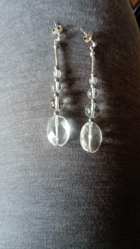 Boucles d'oreilles argent et cristal 25 Toulouse (31)