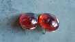 boucles d'oreilles cabochon en verre