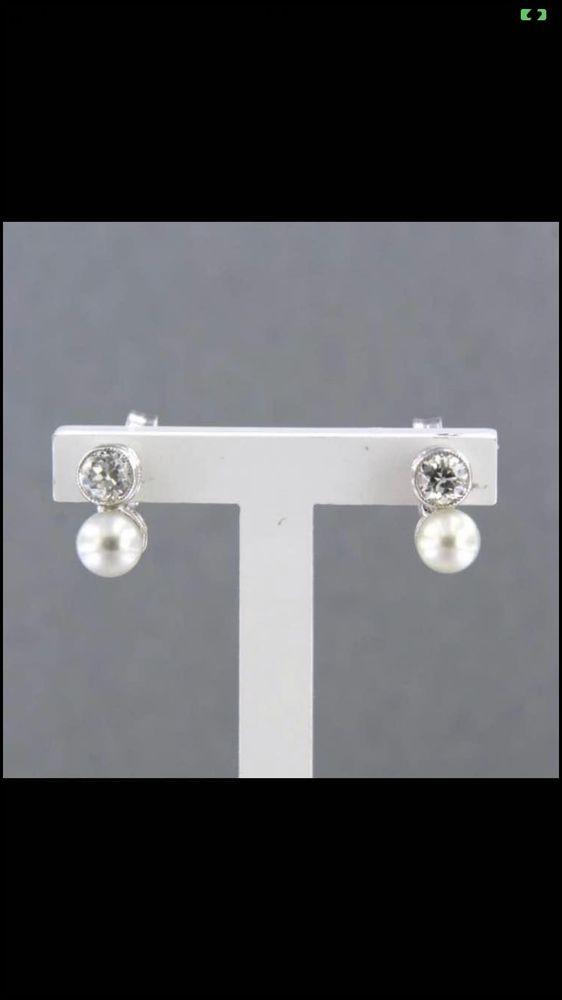 boucles d?oreilles or diamants perles 350 Valenciennes (59)