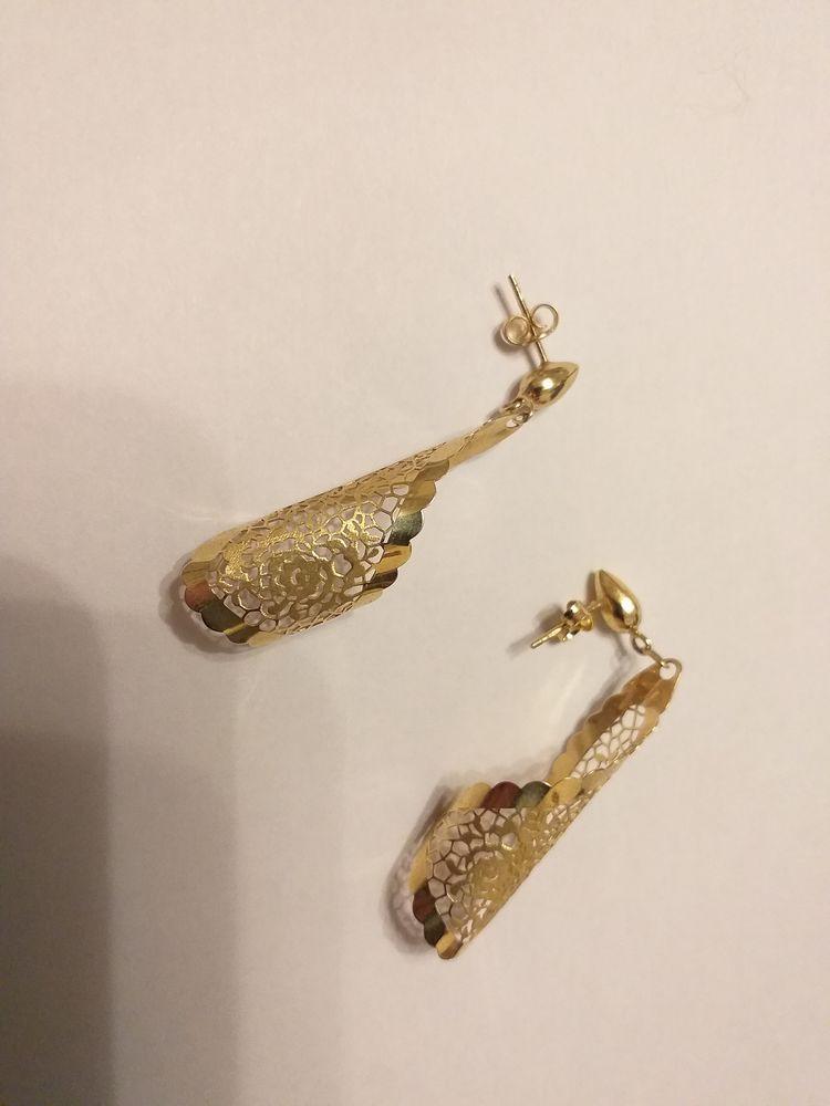 Boucles oreilles neuves or 18 carats 245 Mons-en-Barœul (59)