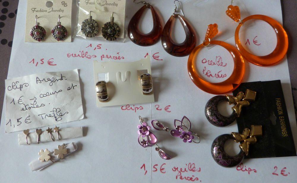 Boucles d'oreilles petits prix à l'unité ou en lot 1 Écuisses (71)