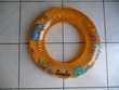 Bouée ronde orange motifs animaux marins
